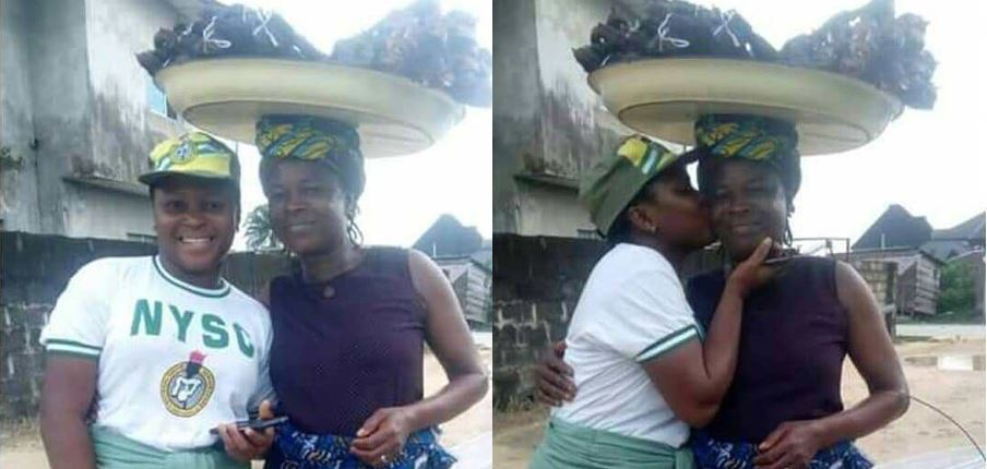 Corp Member Shows Off Her Mom Who Hawked Fish To Sponsor Her Through School
