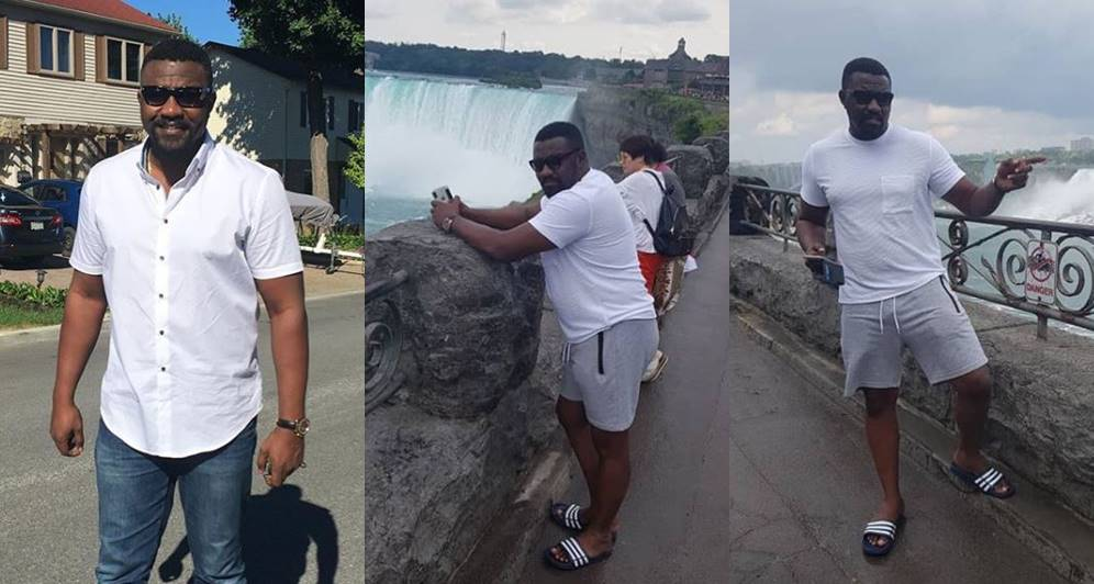 Fans worried about John Dumelo pot belly and weight gain after marriage (Photos)