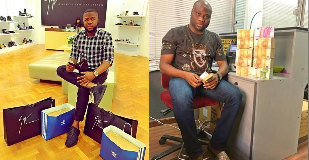 "Image result for Mompha is a weapon that formed against me but didn't prosper"" — Hushpuppi says, shades bilionaire, Mompha."