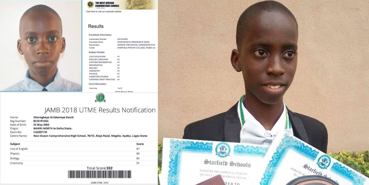 15-year-old Nigerian boy who scored 332 in JAMB & 9 A1s in WAEC denied university admission