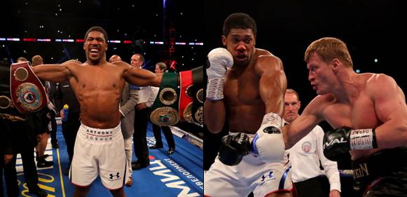 Anthony Joshua knocks out Povetkin to maintain world heavyweight titles (Photos)