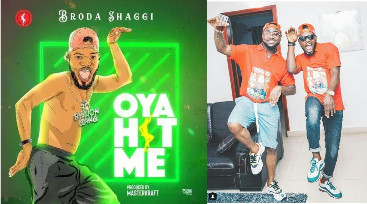 "Davido And Broda Shaggi do the ""oya hit me"" pose (photos)"