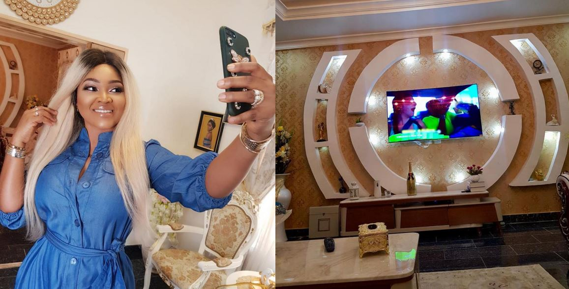 Mercy Aigbe Shows Off Interior Of The Mansion Rumoured To Have Been Gifted By Governor Ambode