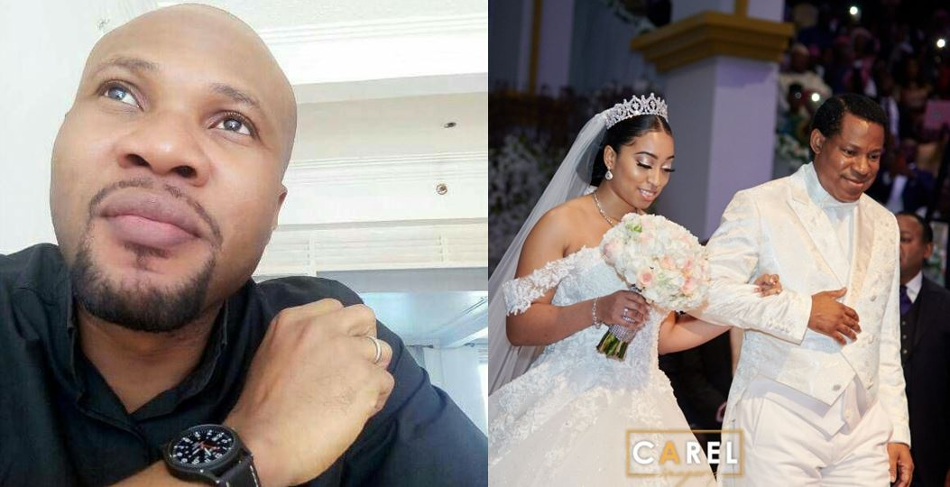 Pastor blasted by followers for questioning the absence of Anita Oyakhilome at her daughter's wedding