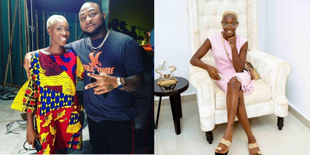 Adetutu Alabi, model with tribal marks, hangs out with Davido in Lagos (Photo)