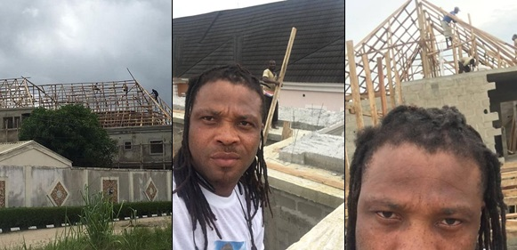African China replies a troll who asked him to stop showing off his house that is still under construction (Photos)