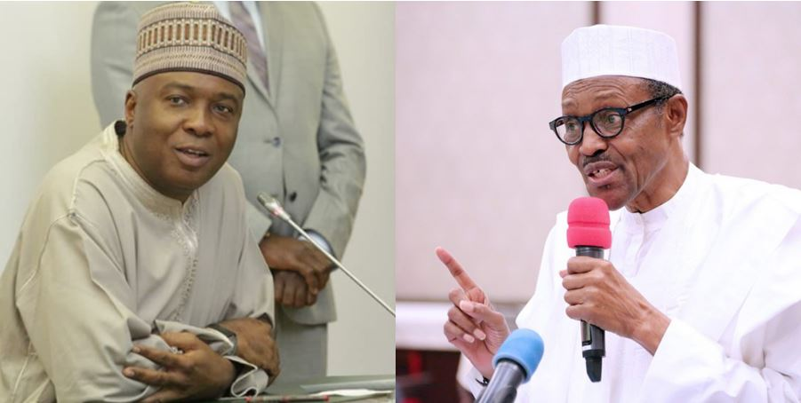 Saraki reacts after President Buhari was booed at National Assembly