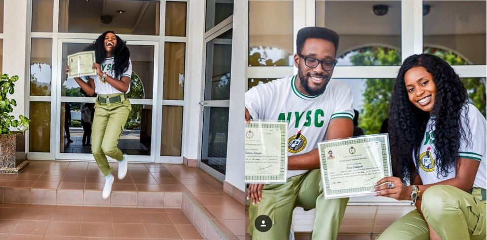 VP Osinbajo's daughter and son, Kiki and Laolu, rejoice as they complete NYSC (photos)