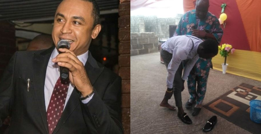 Pastor Gives His Shoes Of N145,000 To Member As Calls Out Daddy Freeze