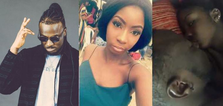Nigerians react to viral video of Peruzzi lying in bed with a UNILAG slay queen (Screenshots)