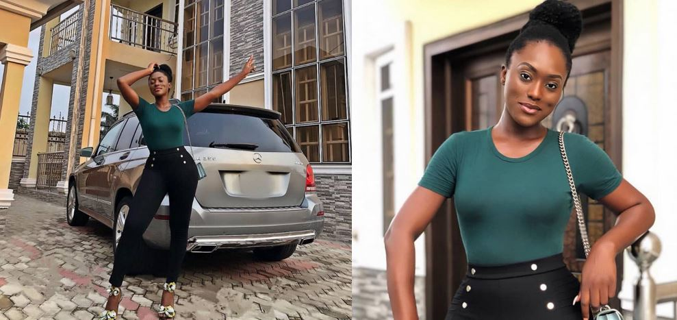 Fans Blast Actress Linda Osifo, Call Her An 'Ashewo' After She Showed Off Her New Mansion