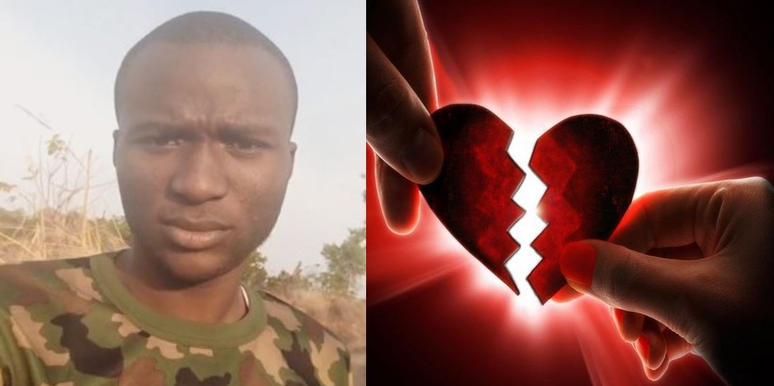 Nigerian soldier cries out after his girlfriend secretly married while he was facing Boko Haram