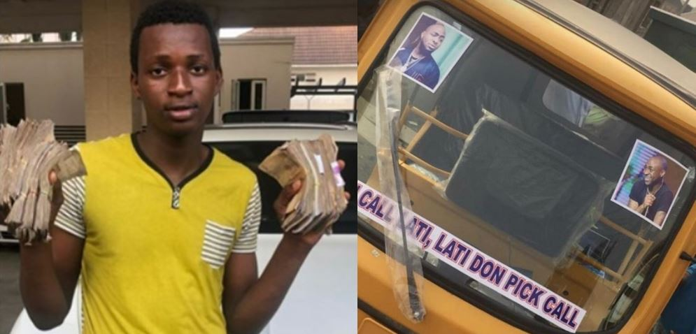 Fan Who Davido Gave N1 Million Buys Keke Napep For Transport Business, Davido Reacts (Photo)