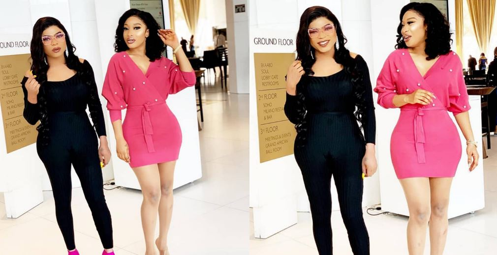 Tonto Dikeh, and her bestie, Bobrisky are quite delectable in lovely new photos