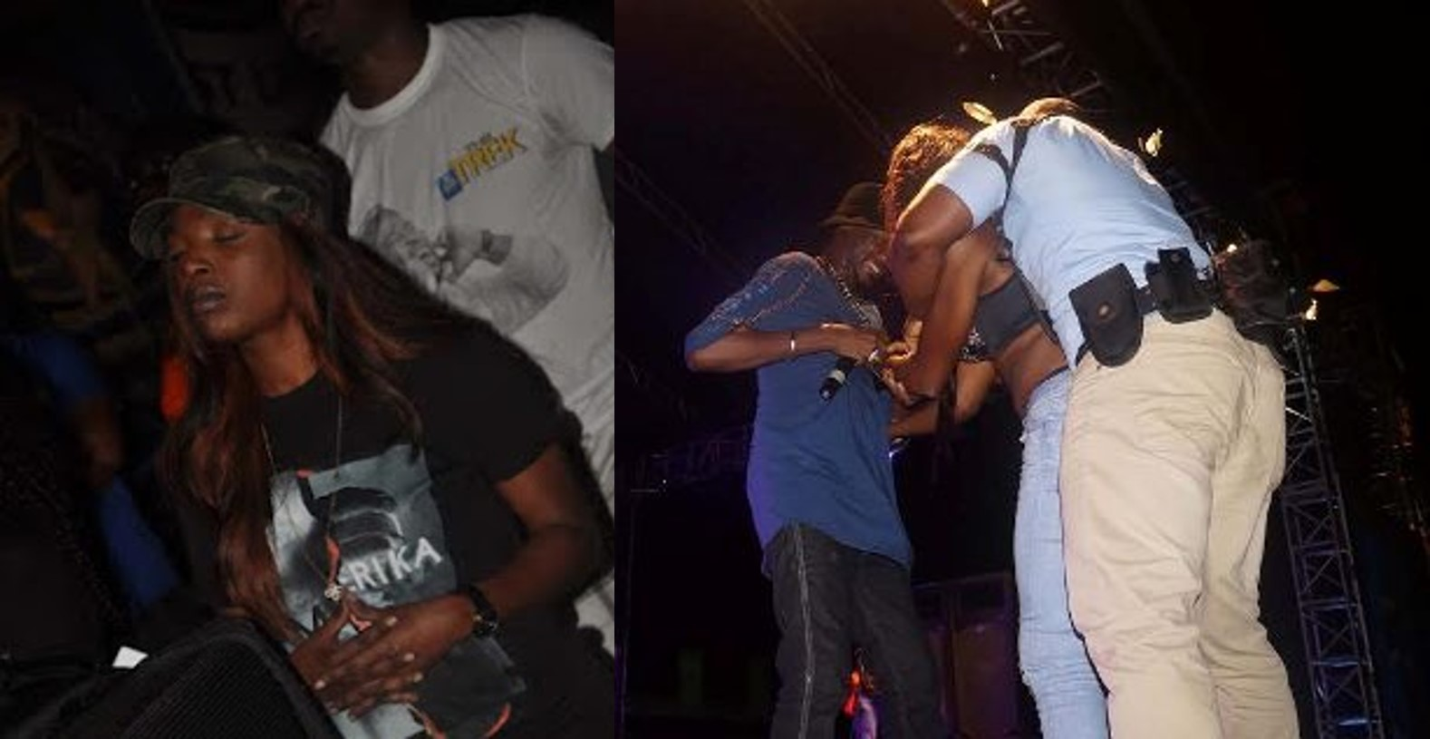 Female fan goes gaga as she hugs Tuface on stage in the presence of Annie, she reacts (Photos / Video)