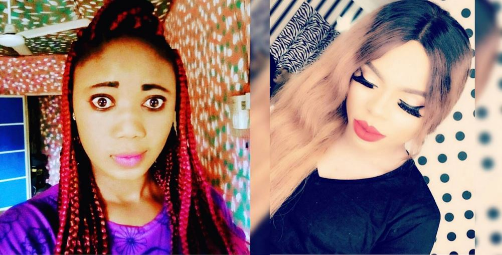 'Imagine this one with big eye like high voltage' – Bobrisky drags female follower on Instagram