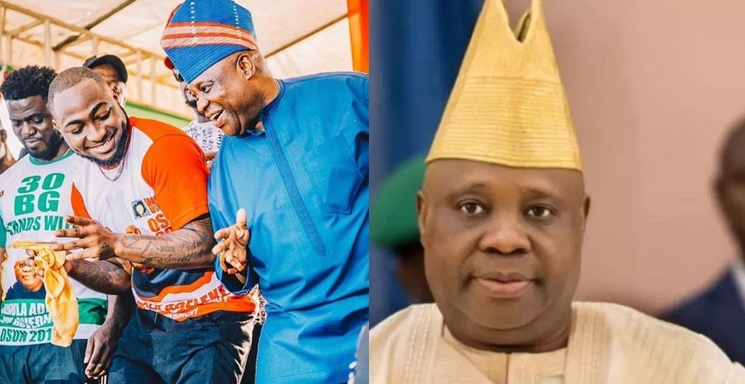 Davido reacts as tribunal sacks APC's Oyetola and declares his uncle, Adeleke Winner Of Osun Governorship Election
