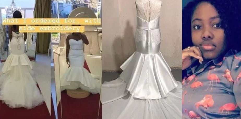 You've brought me nothing but tears – Nigerian bride calls out tailor who made her wedding dress