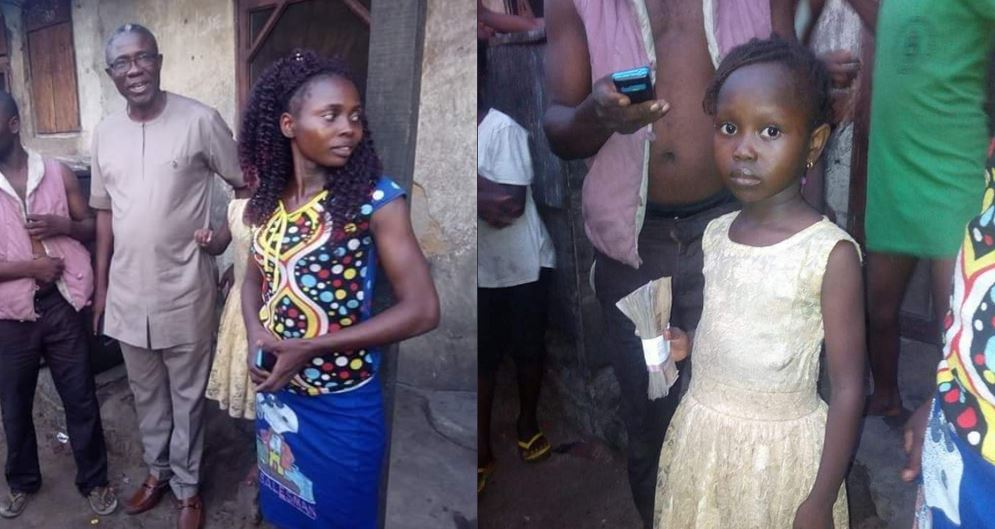 Delta State Official Visits Little Girl Who Was Sent Away From School Over Unpaid School Fees, Set To Establish Parents
