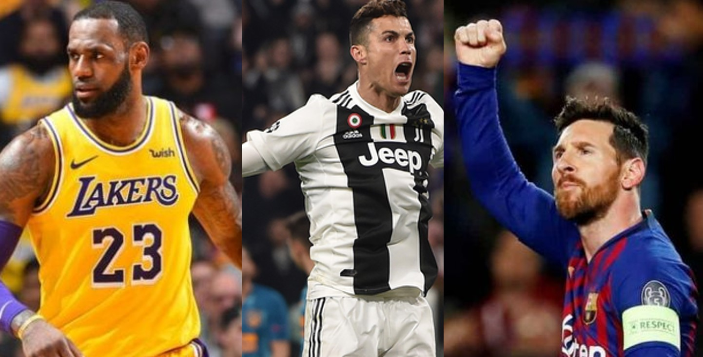 10 most famous athletes in the world 2019