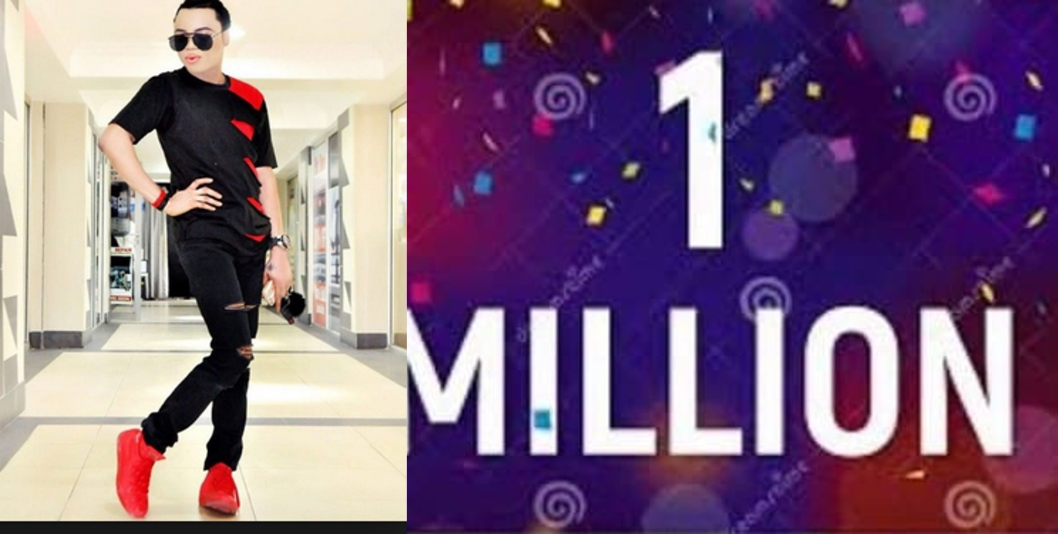 Bobrisky thanks his fans after reaching one million followers on Instagram