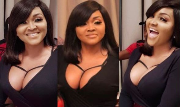 Mercy Aigbe blasts people who criticized her for showing her cleavage