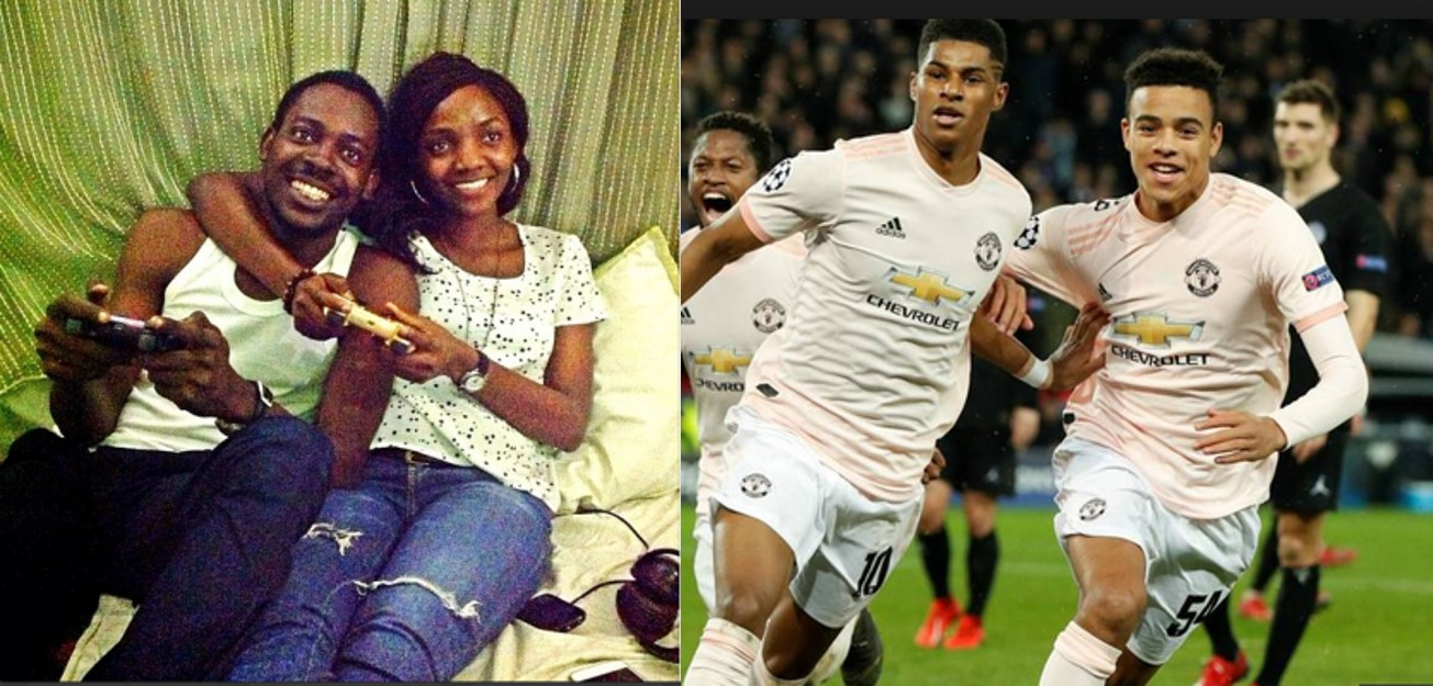 Simi replies Adekunle Gold as he professes love for Manchester United, Nigerians react
