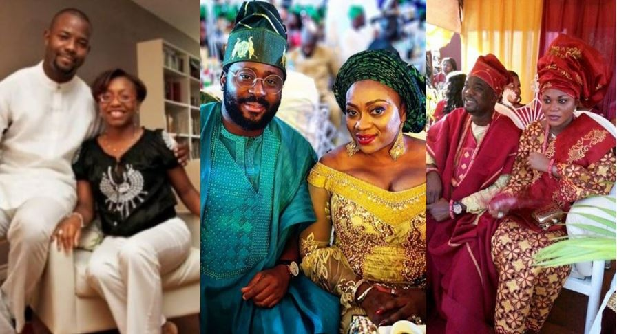 Photos of some Nollywood actors and their wives that you have never seen