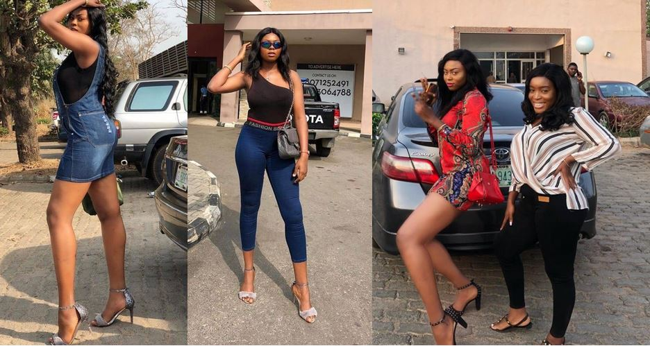 Photos of Yvonne Rofem, young lady who has been tagged as the tallest girl in Nigeria