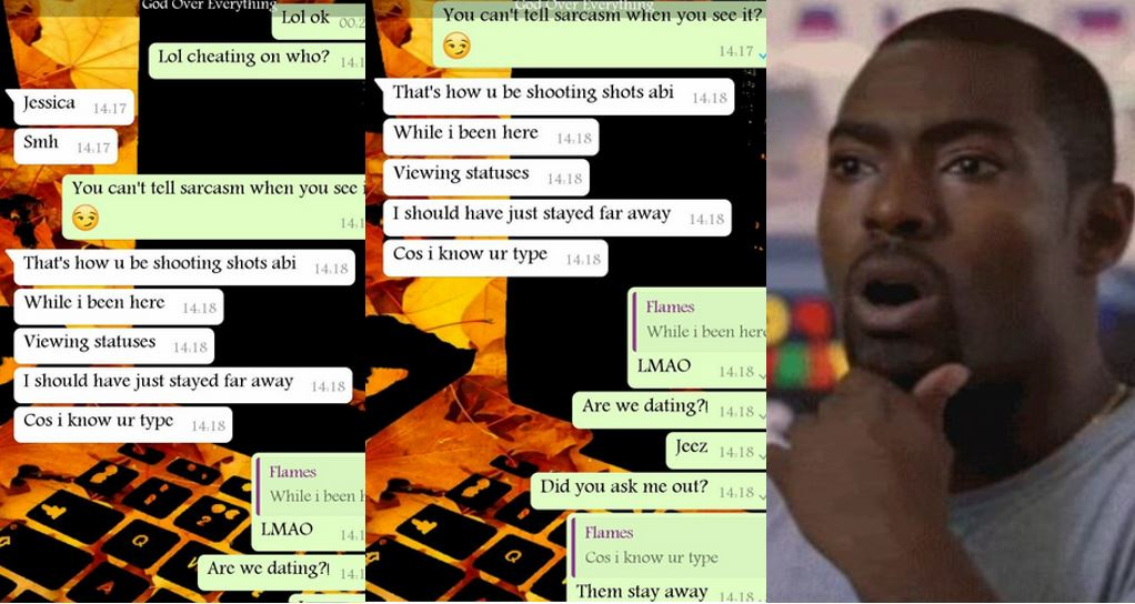See the messages a man sent to his crush after she jokingly asked another man out on social media