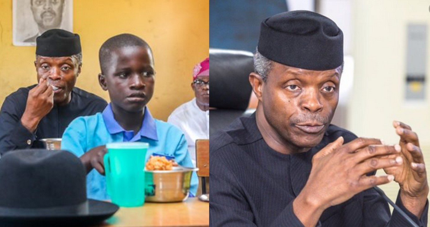FG Feeds Pupils With 594 Cattle, 138k Chickens, 6.8 Million Eggs Weekly – Yemi Osinbajo discloses