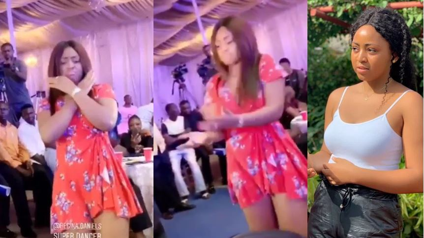 Regina Daniels flaunts her baby bump as she shows off her dance steps in new video