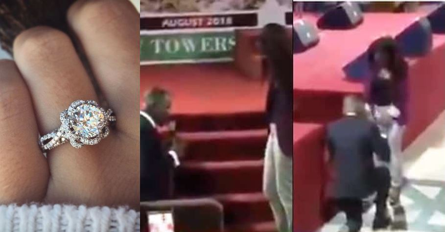 RCCG member proposes to his girlfriend during church service (Video)