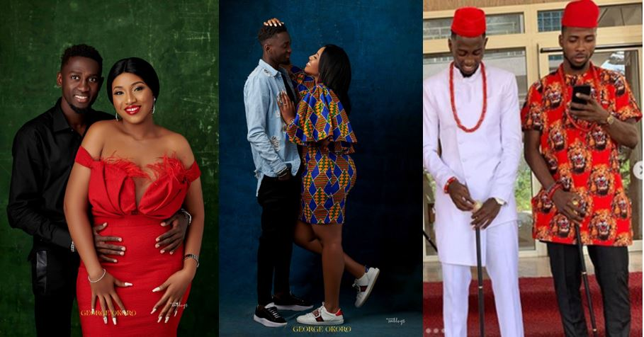 Check out these lovely pre-wedding photos of Super Eagles player, Wilfred Ndidi and photos from his traditional wedding which held yesterday