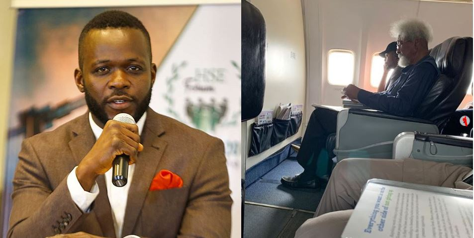Man Who Ordered Professor Wole Soyinka Out Of His Seat On a Flight Speaks Out, Reveals What Wole Soyinka Said To Him