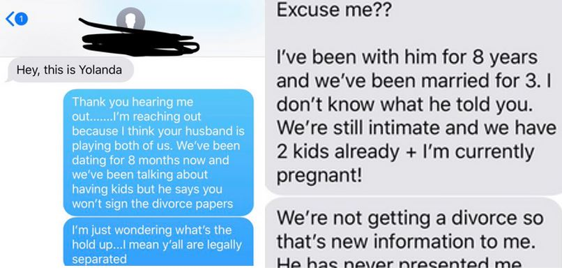 Sidechick confronts her married lover's wife (Screenshots)
