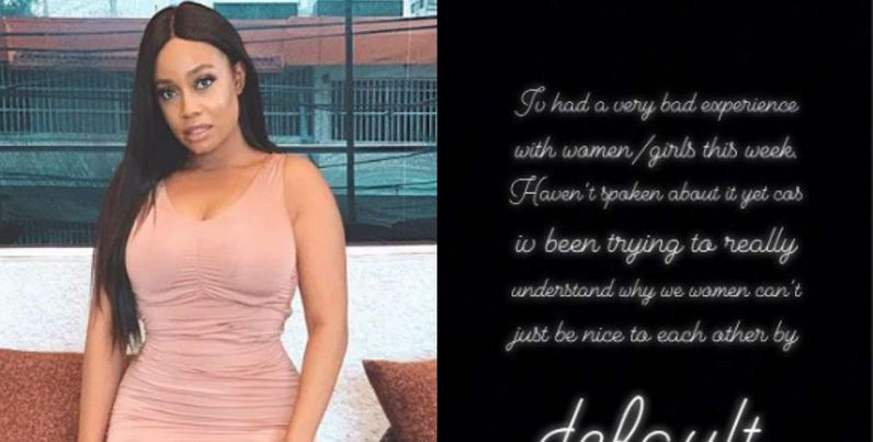Nigerian model narrares how she was treated badly by some ladies at a church in Lagos