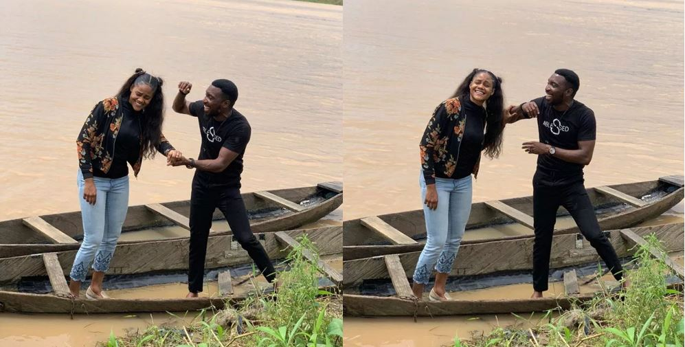 Lovely photos of Timi Dakolo and his wife enjoying a boat ride in Bayelsa