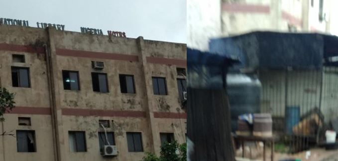 Nigerian man laments over the dilapidated state of the National Library (photos)