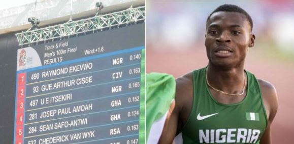 Nigerian athlete becomes Africa's fastest man