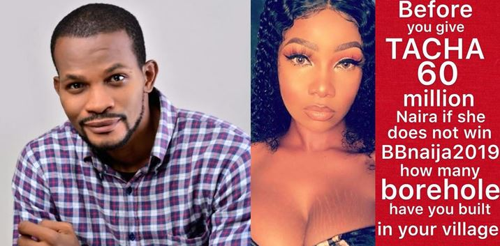 Before you give Tacha 60 million Naira, how many borehole have you built in your village? – Uche Maduagwu blasts Peter Okoye