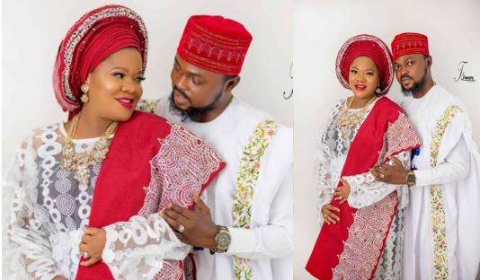 Photos from Actress Toyin Abraham's engagement to the father of her unborn child, Kolawole Ajeyemi
