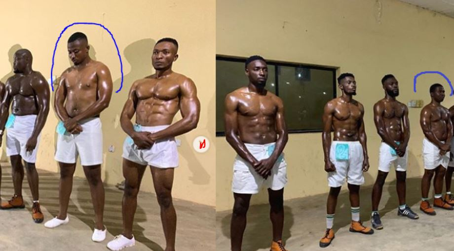 Corpers with 'one pack' compete for Mr. Macho in Nasarawa NYSC camp (Photos)