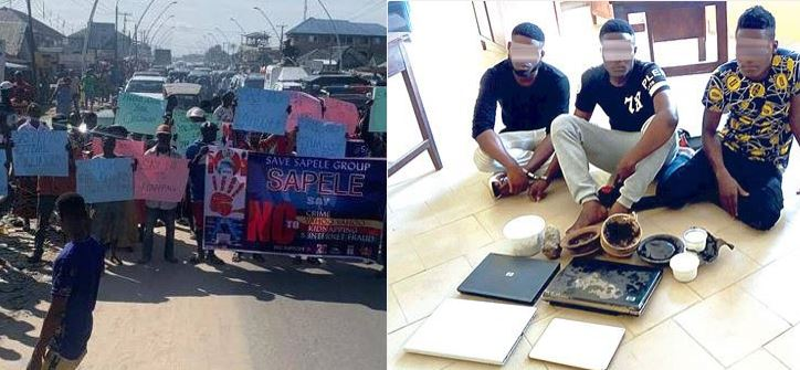 Youths in Delta protest against 'yahoo yahoo' activities
