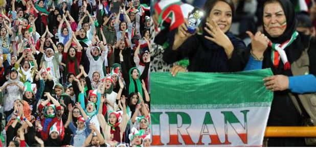 Iranian women finally enter football stadium for first time time since 1981; watch their team beat Cambodia 14-0 (photos)
