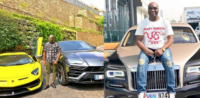 15 Photos of Mompha posing with different luxury cars
