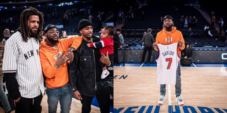 Balling! Davido poses with J.Cole, Trey Songz in New York (Photos)
