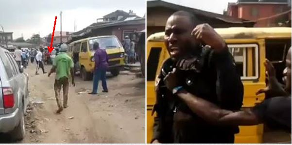 Oshodi mob descend on policeman after he knocked down an old woman