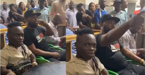 Nigerians struggle to take pictures with Shatta Bandle at the airport (Video)