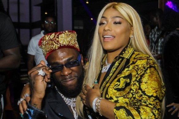 Stefflon Don kisses Burna Boy on center of road in London (SEE PICTURE)